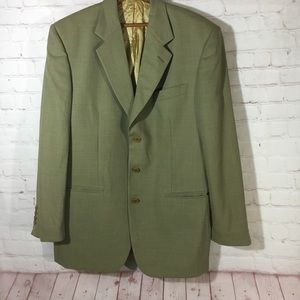 Vintage Missoni tan textured blazer sport coat 42R